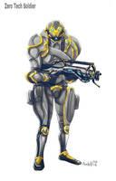 Zero tech soldier (Warframe) by gaber111