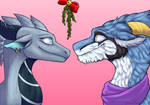 Under the mistletoe :Com: by DawnDragonscale
