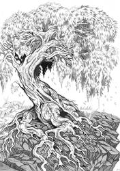 Tree (Mixture of ink and pencil)