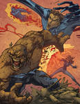 The Fantastic Battle by linemonkey