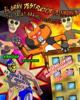 The Orange Destroyer Poster by cobaltkatdrone