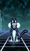 Tron Kat-Nap Ketty by cobaltkatdrone