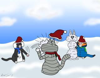 Snow fun by cobaltkatdrone