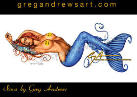 Nova Sexy Pinup Mermaid Art Greg Andrews by HOT-FINS-MERMAIDS