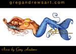 Nova Sexy Pinup Mermaid Art Greg Andrews