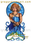 Rusty Fantasy Mermaid Redhead Sexy Pinup Art Greg