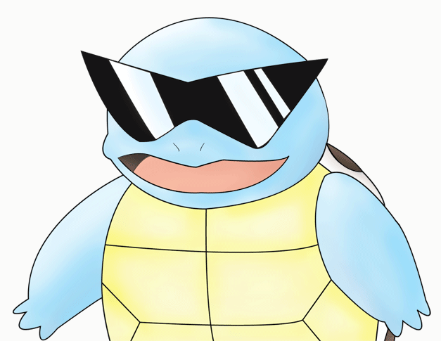 Squirtle With Glasses 78