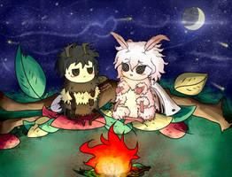 Mothmaeda and Beenata Uwu by Cookiewhisper5