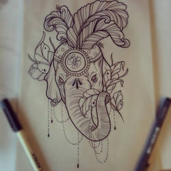 Elephant tattoo design