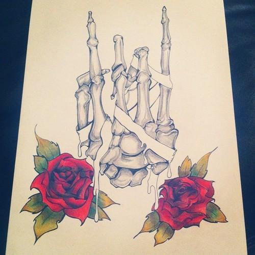 Skull Tattoo Design by ElfEupraxia
