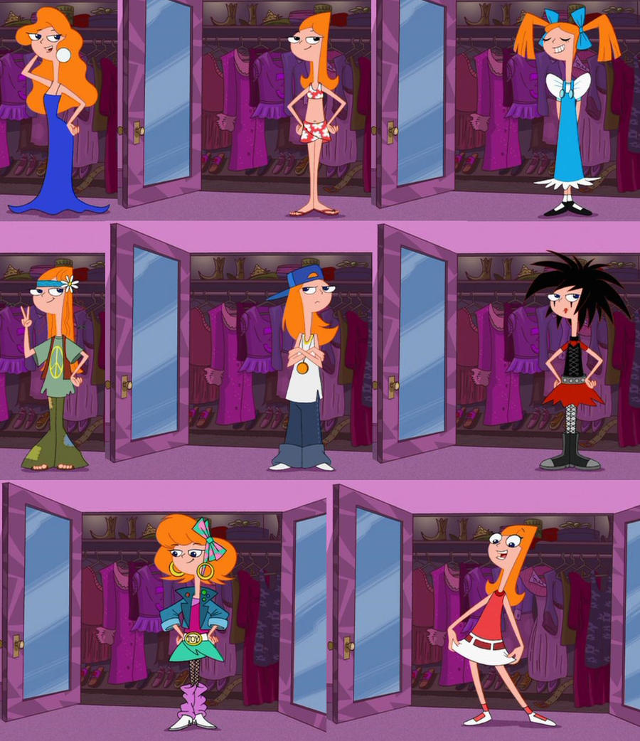 Candace's wardrobe XD by WhiteBAG