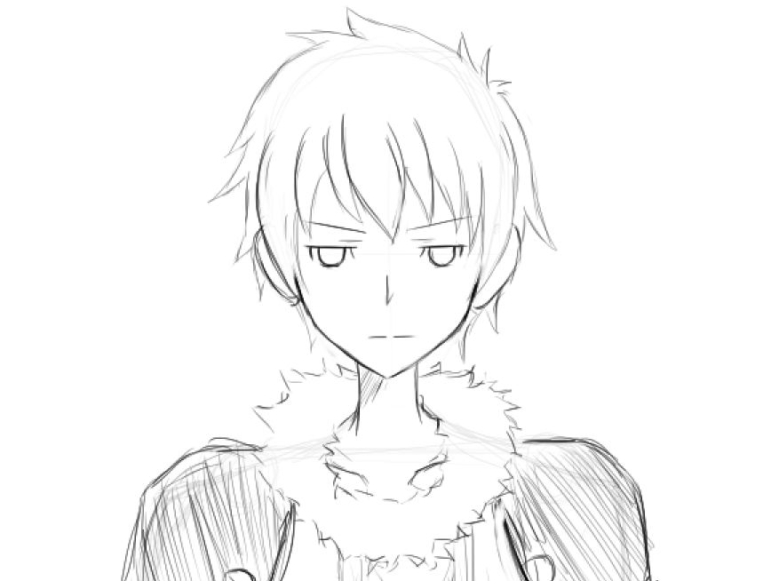 Anime Boy Sketch By Ausra92 On DeviantArt