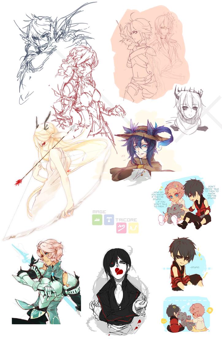 mage:: mini doodle dump by roobis