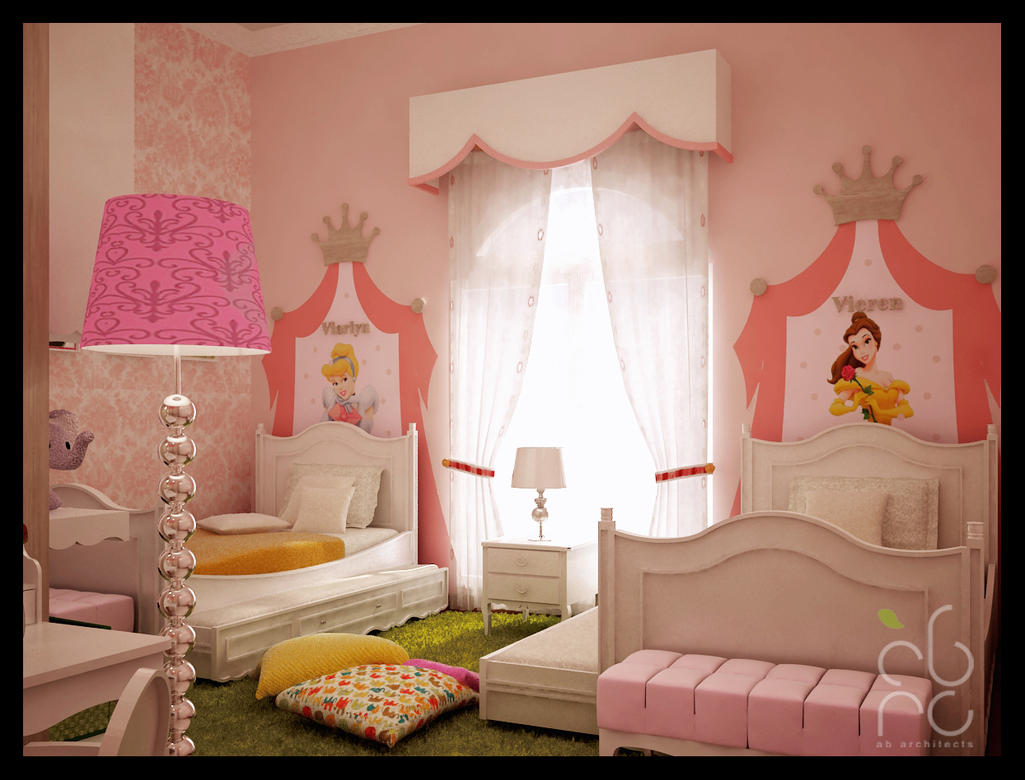 kamar tidur anak wanita by okamiammaterasu on deviantart