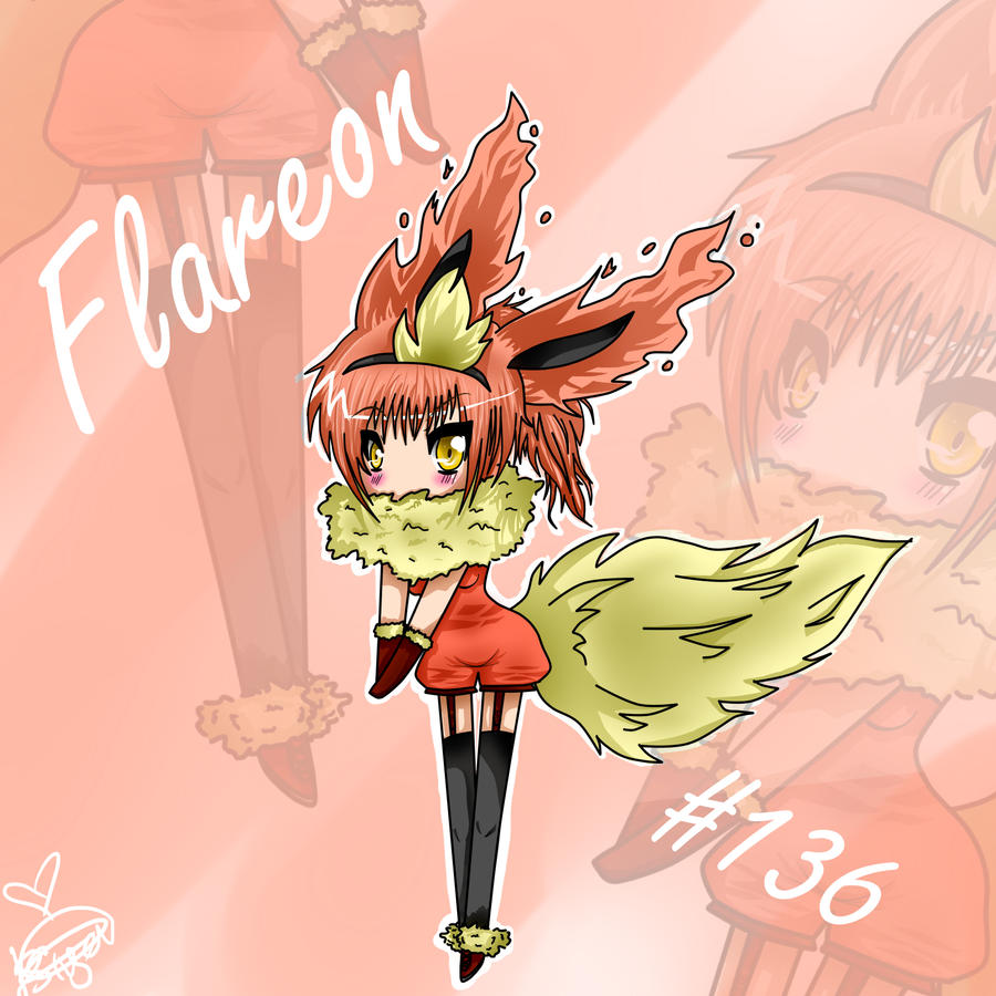 Flareon Human Form by SkyFireSinger on DeviantArt