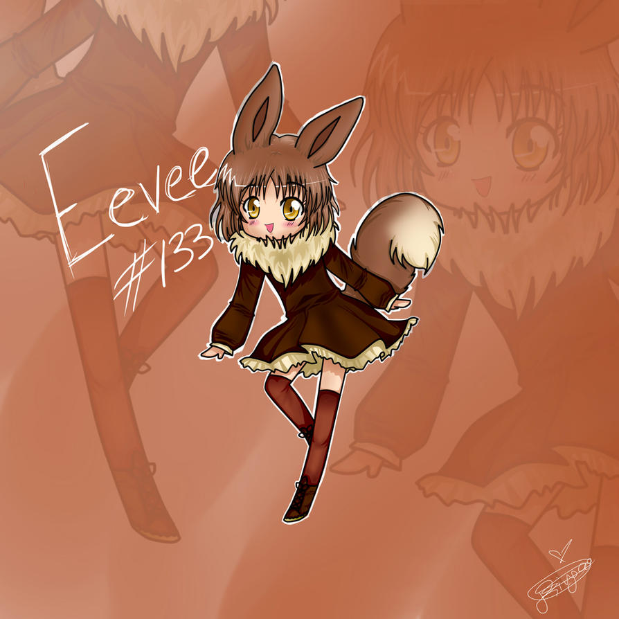 Human Form: Eevee by SkyFireSinger on DeviantArt