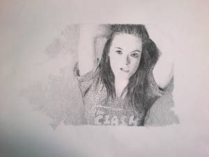Kristen Steward Pencil Portrait
