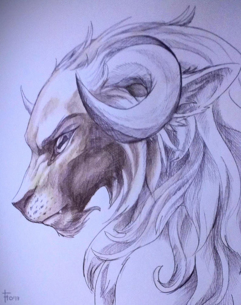 Minotaur by flowerewolf