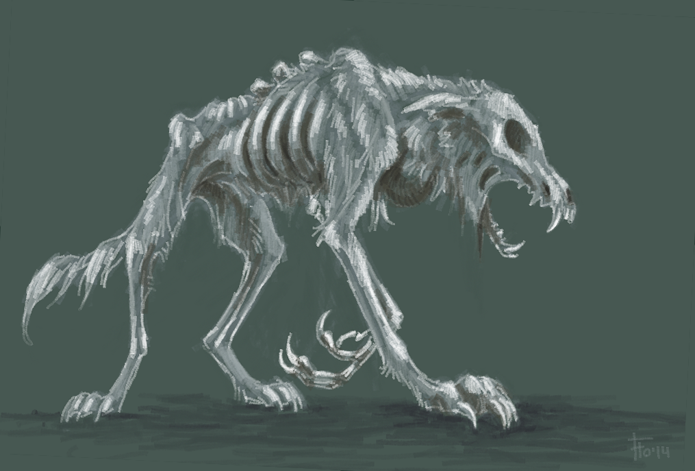 Zombie wolf drawing