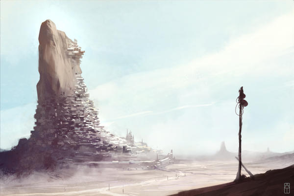Desert town by torvenius
