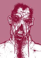 pink zombie by torvenius