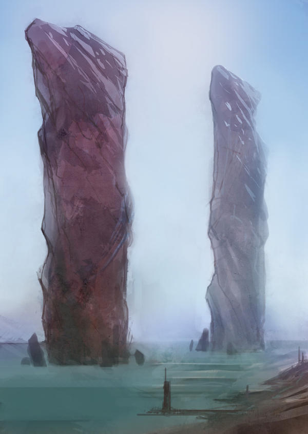 Speed paint pink cliffs 20 min by torvenius