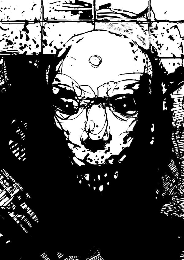BW sketch 10 min by torvenius