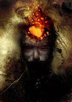 Speed paint fire head, 20 min by torvenius