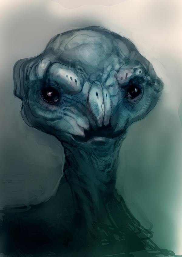 Speed painted plush alien by torvenius