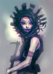 speed painted tribal girl by torvenius