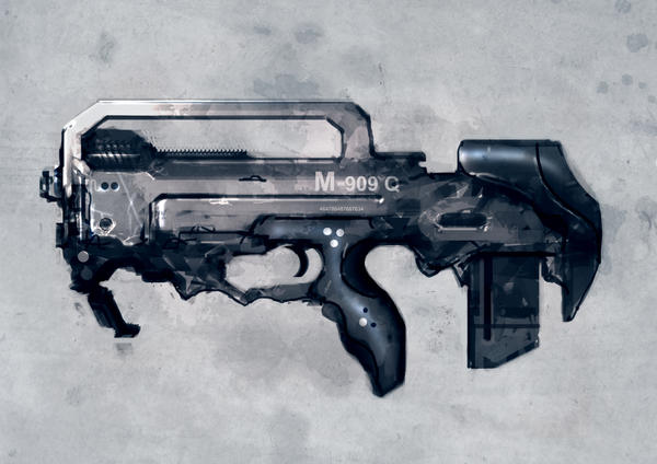 Speed painted bullpup rifle by torvenius