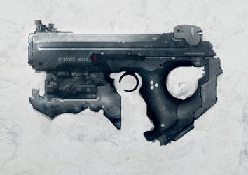Speed painted sci-fi pistol 02 by torvenius