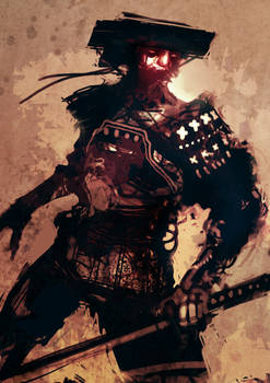 speed painted arab samurai