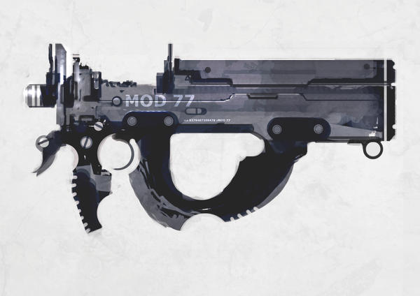 Speed paint bullpup smg by torvenius
