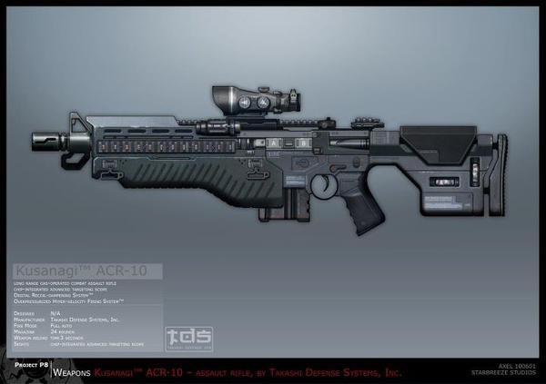 Syndicate Concept Art - Kusanagi Rifle by torvenius