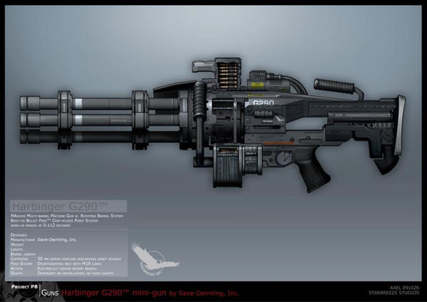 Syndicate Concept Art - MINIGUN by torvenius