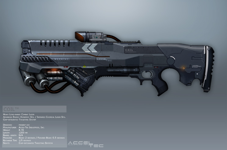 Syndicate Concept Art - COIL rifle by torvenius