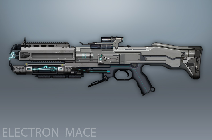 Syndicate Concept Art - Electron Mace by torvenius
