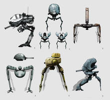 OLD tobot/mech Concept Art by torvenius