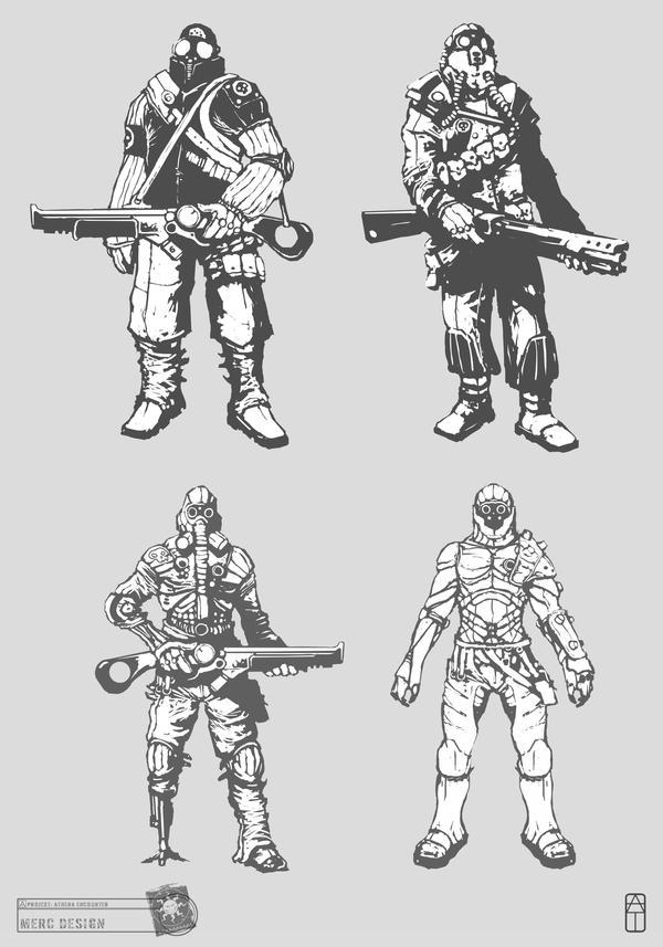 Concept Art RIDDICK AoDA - Enemies by torvenius