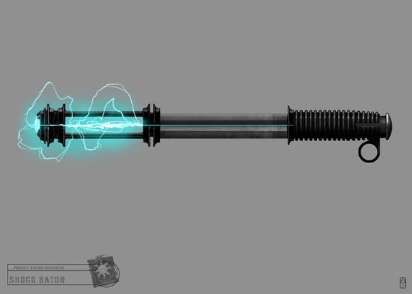 Concept Art RIDDICK AoDA - Baton by torvenius