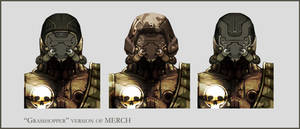 Concept Art RIDDICK AoDA - Enemy heads