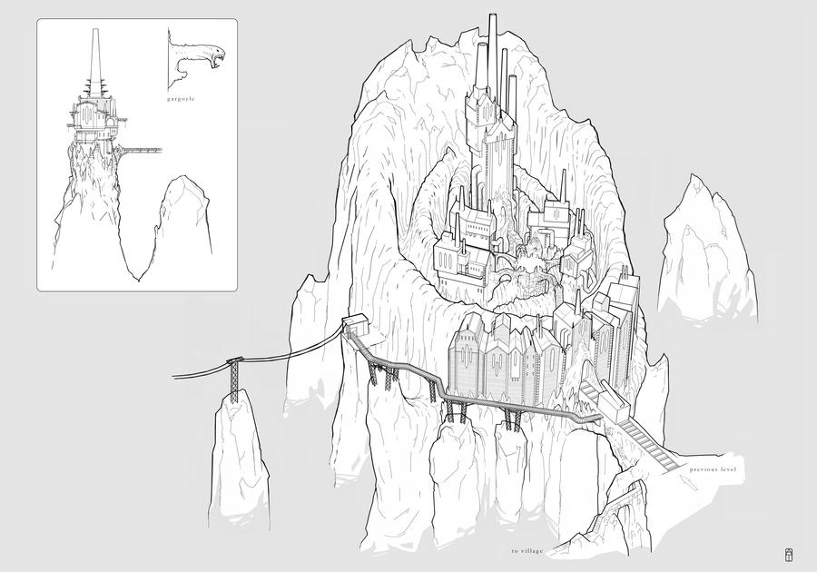 the DARKNESS Concept Art - Otherworld Castle by torvenius