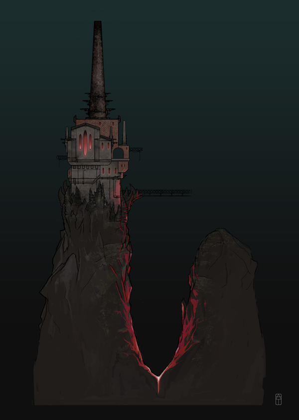 the DARKNESS Concept Art - Otherworld Castle by torvenius
