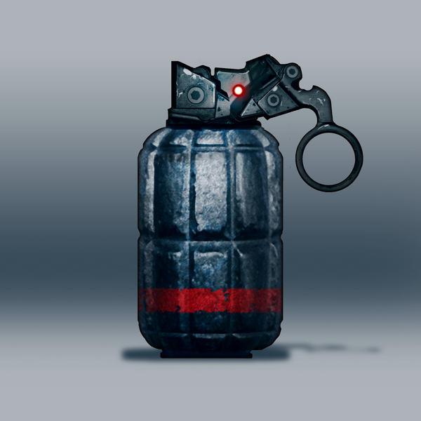 Sci-fi grenade movie concept by torvenius