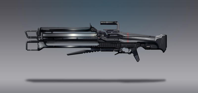 Commission Concept Art - Beam Rifle by torvenius