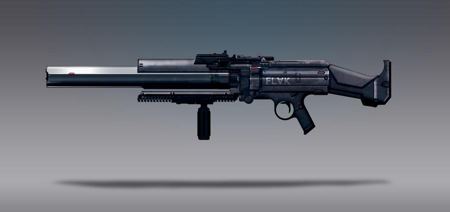 Commission Concept Art - Flak Rifle by torvenius