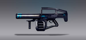Commission Concept Art - Nade Rifle
