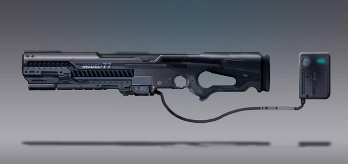 Commission Concept Art - Rail gun/Rail rifle