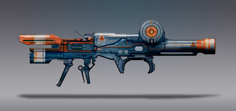 Commission Concept Art - Rocket Launcher by torvenius